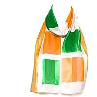 Sciarpa Chiffon Raso Bandiera Irlanda, Scozia