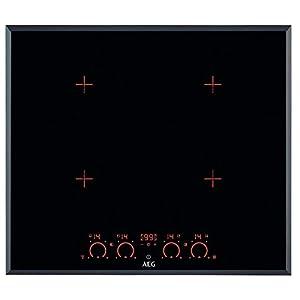 AEG–Vitrocerámica de inducción HK 674406FB acabado negro de 60cm