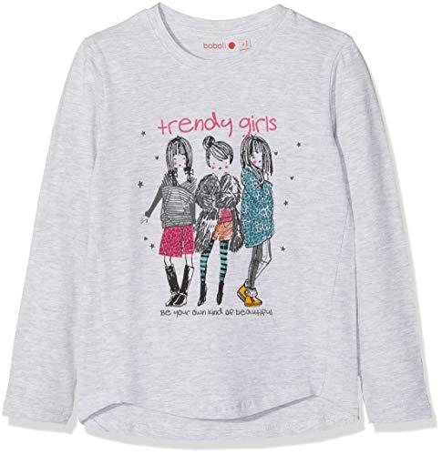 8258856b9fc0ed boboli Camiseta Punto elástico de niña T-Shirt Fille, Gris (Vigoré 8095)