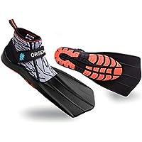 ORSEN Amphibien Schuhe Flossen Schnorchelflossen,kurz Schwimmflossen,Trainingsflossen Taucherflossen,Schwimmtraining Schnorcheln mit Revolutionäres Design Komfort für Erwachsene,Kinder