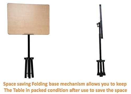 Smart Shelter Space Saving Portable / Foldable Height Adjustable Laptop Table / Desk / Study Table Black