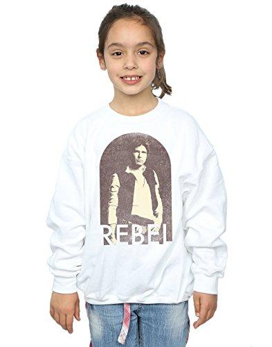 Star Wars Mädchen Han Solo Rebel Sweatshirt Weiß 5-6 Years