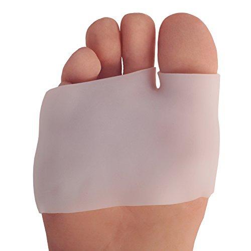 Dr. Frederick 's Original Hälfte Fuß Sleeve Mittelfuß Pads–entzündeten Fußballen & Vorfuß Dämpfung–2Teile–Verhindern Schwielen und Blasen–Für Damen und Herren (Die Hälfte Sitzkissen)