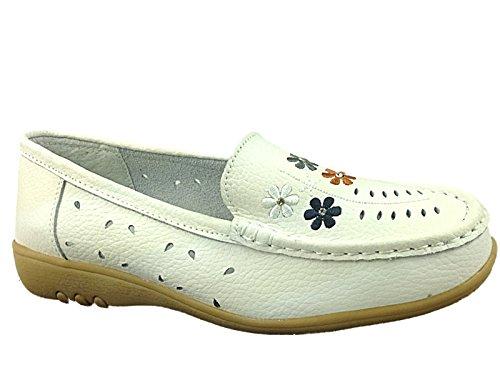 Foster Footwear , Ballet femme Eve:White
