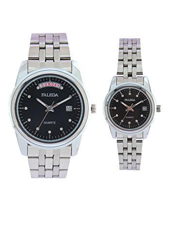 Faleda 6154PCHBDAY-DATE Sports Analog Watch For Couple