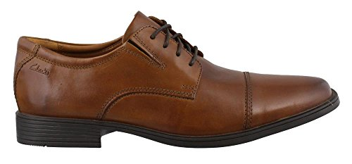 Clarks Tilden Cap Oxford Schuh Dark Tan Leather