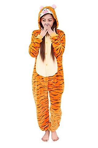 Babyonline® Einhorn Adult Pyjama Cosplay Tier Onesie Body Nachtwäsche Kleid overall Animal Sleepwear