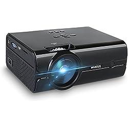Proyector, Mini Proyectores HD Portátil LED 2000 Lumens Apoyo 1080p T8 Projector LCD Home Cinema con HDMI USB VGA AV SD para Teatro Casero/ Hospitalidad del Partido/ Experiencia de Cine/ Entretenimiento en el Hogar