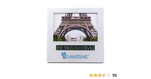 Lantelme Digital Innen Thermometer Analog Foto Bilderrahmen Innenthermometer Datum Uhr Wecker Alarm 3267 Garten