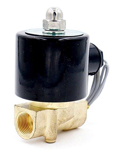Woljay Magnetventil 3/8 Zoll DC 12V Wasser Luft Gas (Normal Geschlossen) Ersatz Messing Ventil
