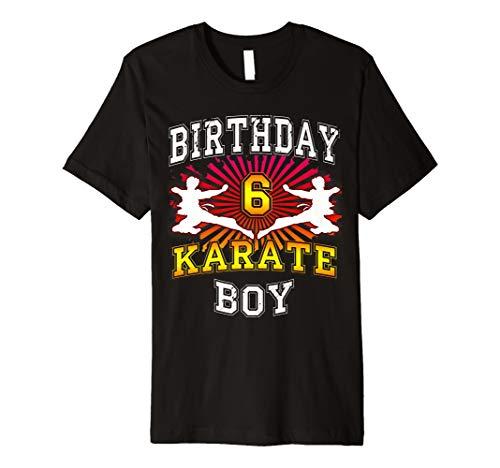 6 Geburtstag Karate T-Shirt für Jungen