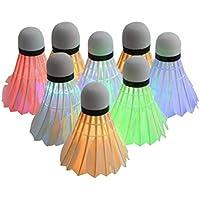 TOYANDONA 8 Piezas Led Bádminton Birdies Volantes Ligeros Accesorios Creativos de Bádminton Que Brillan en La Oscuridad para Actividades Deportivas de Gimnasio Al Aire Libre en Interiores