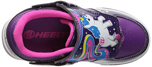 Heelys X2 Twister, Chaussures de Tennis Fille Violet (Grape / Purple / Hot Pink)