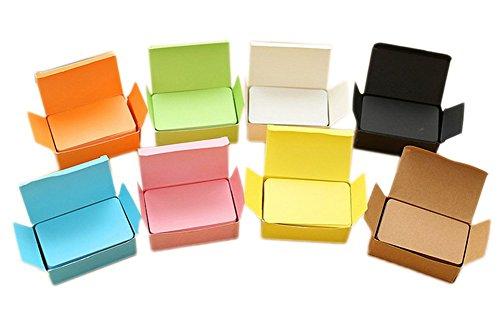 Cosanter Blanko Karte Memo Pad Notizbücher DIY Memory Wort Karten 8er Pack Graffiti Spielkarten Hellgrün,Blau,Weiß,Rosa,Schwarz,Gelb,Orange,Braun