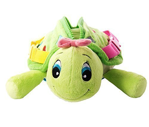 buckle-toy-belle-turtle-toddler-early-learning-basic-life-skills-childrens-plush-travel-activity-by-