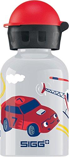 Sigg Jungen Trinkflasche Helicopter, Grau/Bunt, 300 ml, 8489.5