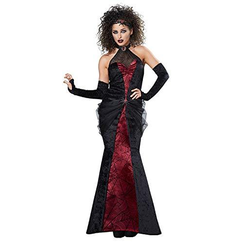 Halloween Kostüm Kollektion - Erwachsene Frauen Ghost Town Black Widow Kostüm, Rock Und Handschuhe, Freie Größe,OneColor-OneSize