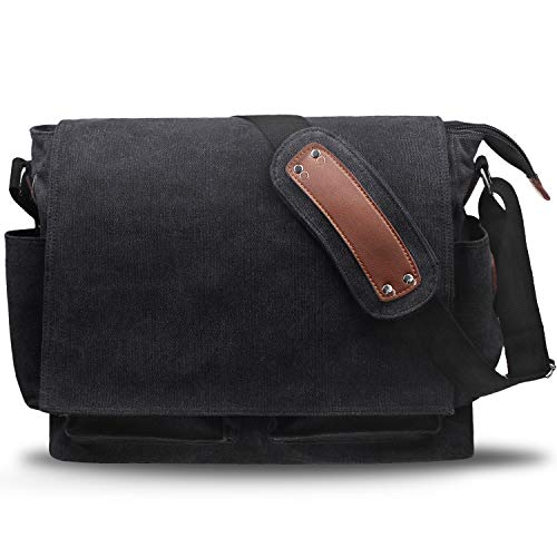 HASAGEI Umhängetasche Herren Herrentasche kuriertasche Herren Umhängetaschen Leinwand Vintagem Schultertaschen Messenger Bag