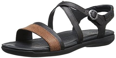 KEEN Women's Rose City Sandal, Black/Tortoise Shell, 6.5 M US