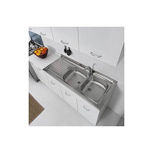 Mueble para fregadero de cocina, de 120 x 50 cm, con doble puerta,  combinable con fregadero de acero inoxidable, disponible en tres colores