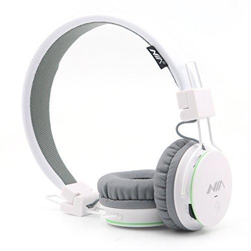 Fm-radio, Wiederaufladbare Sony Am (GranVela® X2 Over-Ear-Bluetooth-Kopfhörer, faltbar 4 in 1 Stereo Kinder Kopfhörer-drahtlose freihändige Kopfhörer mit Mikrofon und MicroSD Card Player, Radio, AUX für iPhone, Samsung und mehr (weiß))