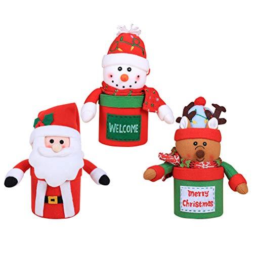 BESTOYARD 3 STÜCKE Weihnachten Süßigkeiten Gläser Plüschpuppe Boxen Container Xmas Party Tisch Schreibtisch Dekorationen