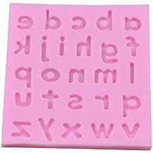 Demarkt Molde de Silicona Cubitos de Chocolate Molde de Letras Inglesas Minúsculas 26 Repostería Hornear Caramelos