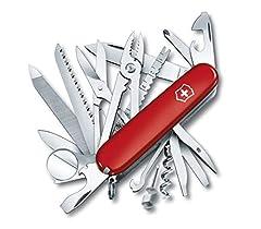 Idea Regalo - Victorinox  Swisschamp,  Coltello colore: Rosso