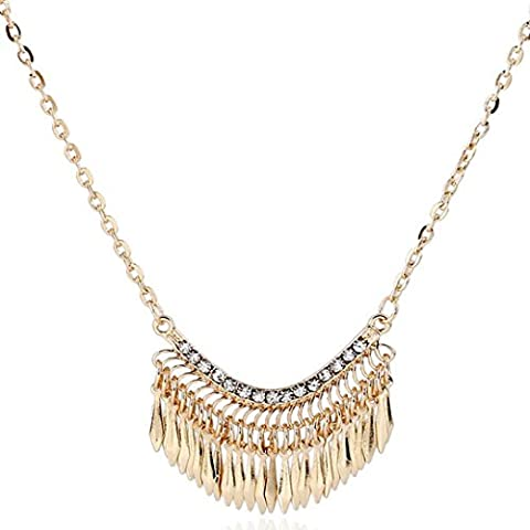 hunpta Fashion Womens Bib Crystal Rhinestone Pendant Long Chain Statement