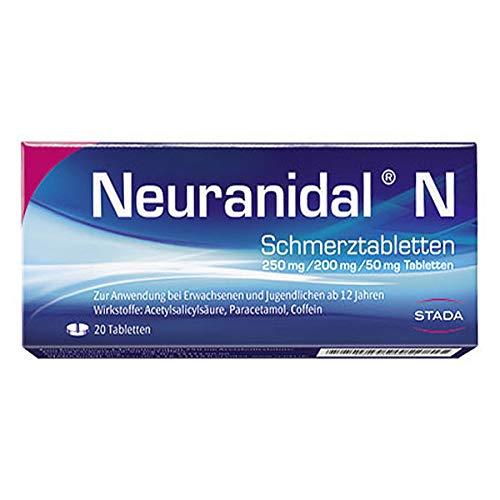 Neuranidal N Schmerztabletten 250 mg/ 200 mg/50 mg, 20 St. Tabletten