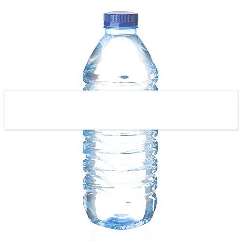 e Wasserflaschenetiketten - für Inkjet / Laserdrucker - Starke selbstklebende Umwicklung - Mattweiß (10 Blätter insgesamt 70 Etiketten) (Wasser-flasche-etikett)