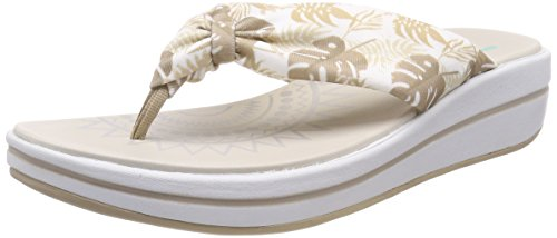 Skechers Damen Upgrades Plateau Sandalen, Beige (Natural), 38 EU