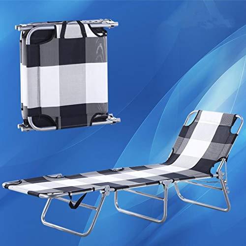 Klappstuhl Strand Stühle Leichte Liege Für Erwachsene Reise Outdoor Angeln Tragbaren Sitz Metall Chaise, Blau, Halten 103 kg (Farbe: Gitter) -