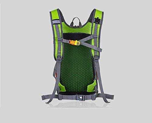 Mountain Bike Fahrrad Rucksack Daypack Ultra wasserdicht mit Helm NET kann holded Water Store Tasche für Radfahren Running Wandern Trekking Camping 7 Farben H46 x W26 x t23cm Red