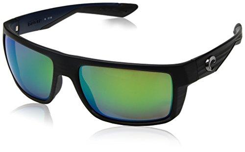Costa Del Mar Motu Sonnenbrille, Herren, Motu Matte Black Teak Green Mirror 580P, Matte Black Teak Green Mirror, 57.4 mm