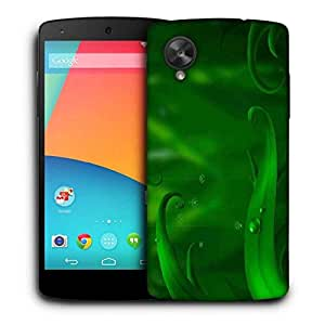 Snoogg Green Long Leaves Printed Protective Phone Back Case Cover For LG Google Nexus 5