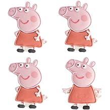 Peppa Pig comestible glaseado de tartas conjunto de 4