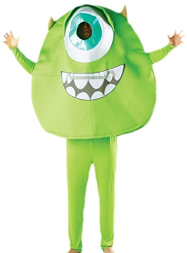 Halloweenia - Herren Kostüm Monsters University Mike Wazowski mit Top, Hose und Ärmeln, M, Grün