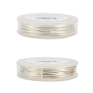 BENECREAT 10m 1mm Filo di Rame Metallico Accessori Artigianali per Gioielli Design di Gioielli - Argento