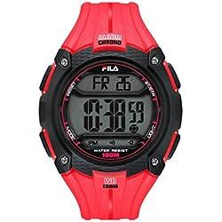 Fila Unisex Quartz Watch with Digital Quartz 38094003Filactive Red Plastic