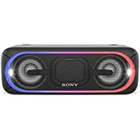 Sony SRS-XB40 Altoparlante Wireless Portatile, Extra Bass, Bluetooth, NFC, USB, Resistente all'Acqua IPX5, Nero