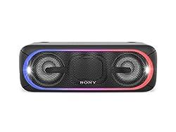 Sony SRS-XB40 Tragbarer kabelloser Lautsprecher (Bluetooth, NFC, wasserabweisend, 24 Stunden Akkulaufzeit) schwarz