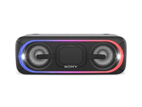 Lautsprecher Mp3-player Sony Mit (Sony SRS-XB40 Tragbarer kabelloser Lautsprecher (Bluetooth, NFC, wasserabweisend, 24 Stunden Akkulaufzeit) schwarz)