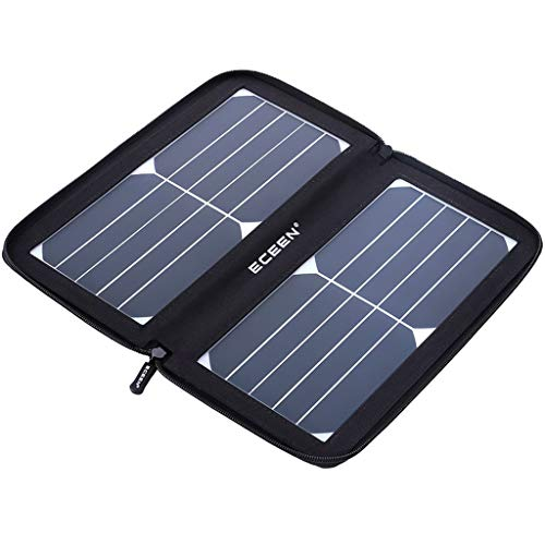 Leeec Outdoor Mobile Waterproof Charger 10w Portable Waterproof Folding Solar Charger for Travel Hiking (schwarz/Camouflage),Black 10w Folding Solar Charger