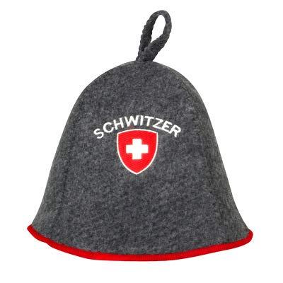 "Saunahut\""Schwitzer\"" Saunakappe Saunamütze Sauna Filz Kappe Lustige Hüte (Grau)"