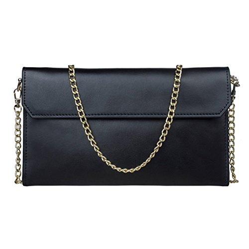 - 41Fl0Q2o4DL - S-ZONE Women's Genuine Split Leather Evening Envelope Clutch Bag Shoulder Handbags Bag Wedding Party Bags with Removable Wrist Strap.