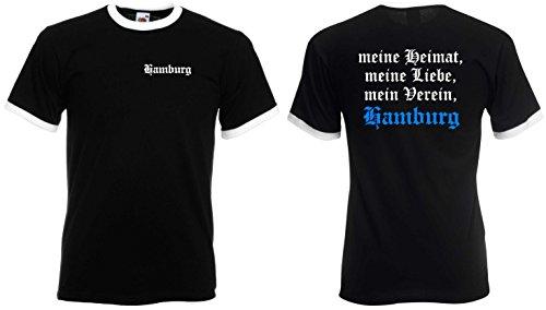 Fruit of the Loom Hamburg Retro T-Shirt Meine Heimat Meine Liebe Mein Verein Ultras|XXL
