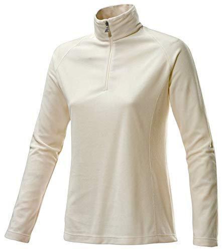 Fleece-sport-shirt (Medico Damen Ski Shirt, 46, eggnogg, Cremeweiss, 100% Polyester, Fleece, langarm, Reißverschluss)