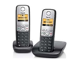 Gigaset A400 Duo Dect-Schnurlostelefon, incl. 1 zusätzlichen Mobilteil, schwarz