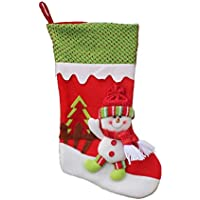 Libertroy Pull Flannel Calcetines de Navidad de Gran tamaño Calcetines de Navidad Supply Lovely Hanging Ornament Decoration 45cm Navidad Decoracion